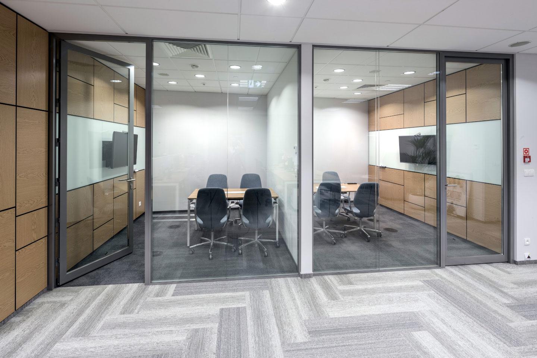 Drzwi Szklane Standard w ramie aluminiowej